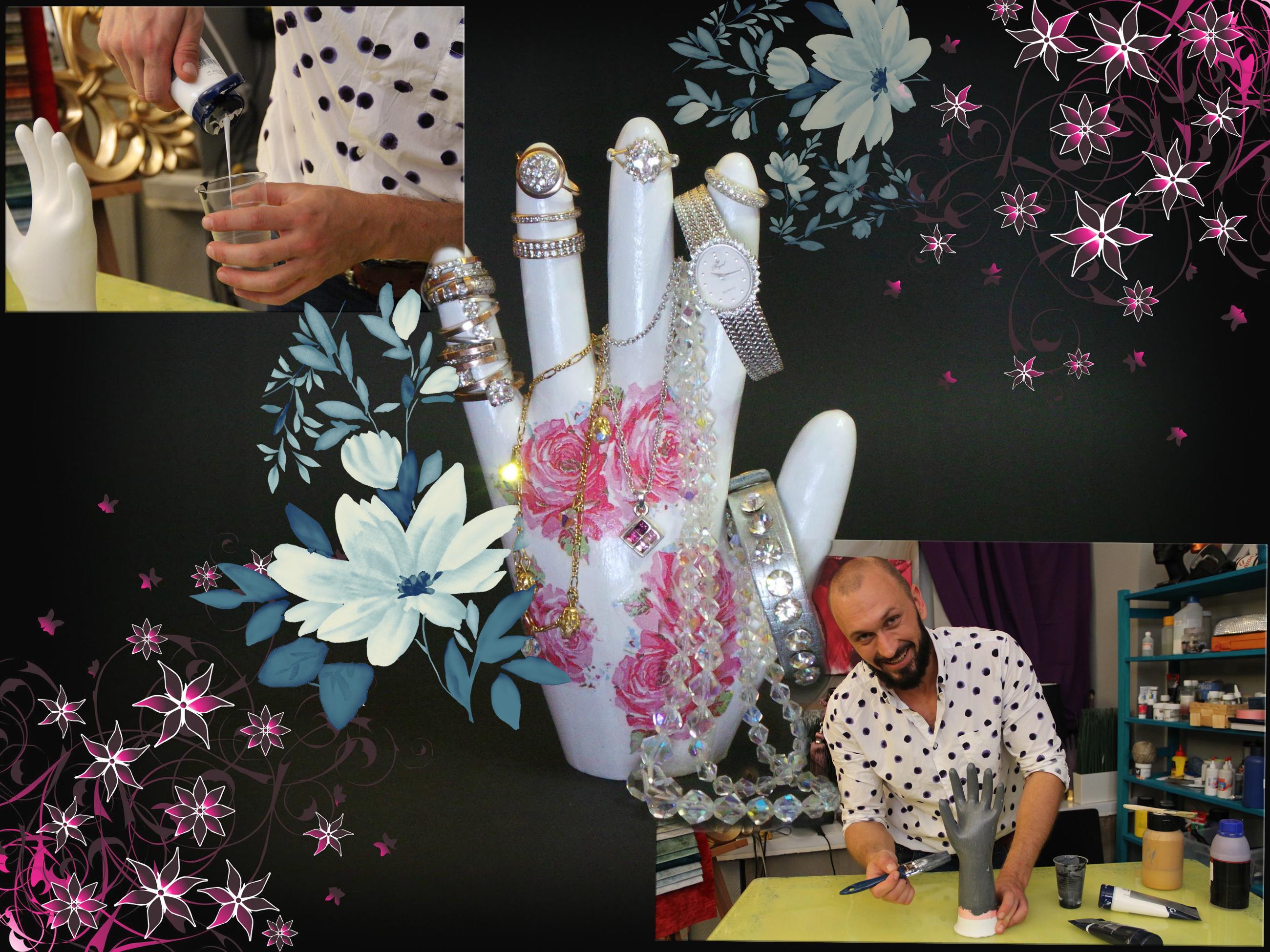 Подставка для украшений своими руками - рука